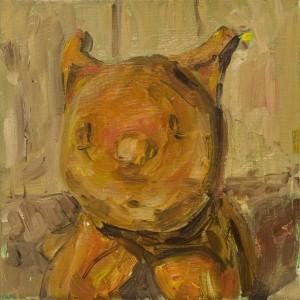 Katze, 2009 Öl auf Leinwand, 20x20cm