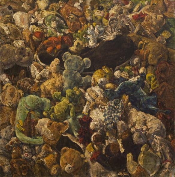 Kuscheltiere, 2009, Öl, Acryl auf Leinwand, 150x150cm