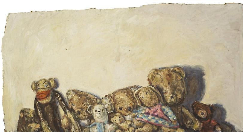 Gruppenbild, 2009, Öl, Acryl auf Spanplatte116x61 cm