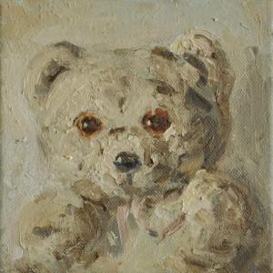 Bär, 2010 Öl auf Leinwand, 20x20cm