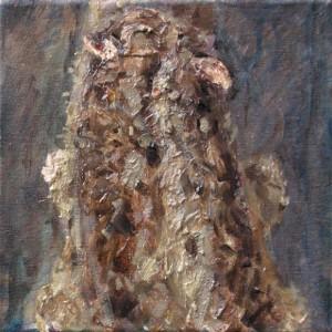 Murmeltier abgewandt, 2008 Öl, Acryl auf Leinwand, 20x20cm