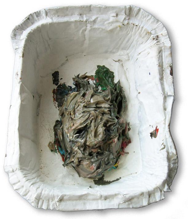 Ölgötzen, 2009, Verschiedene Materialien, ca.13x11x6 cm