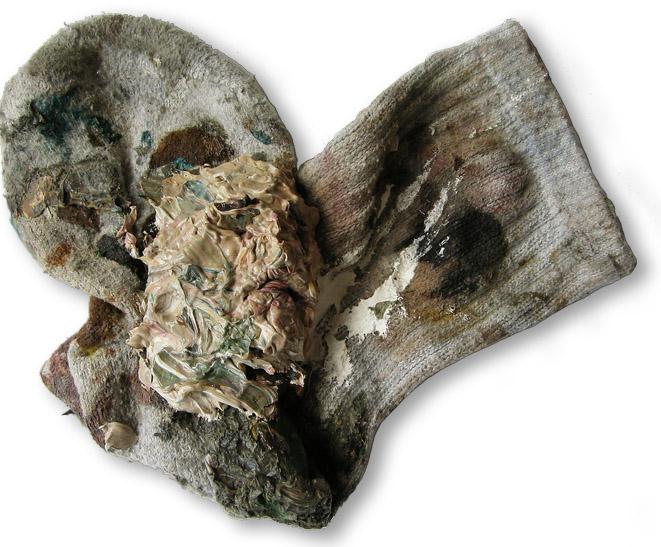 Ölgötzen, 2009, Verschiedene Materialien, 16x11x5 cm