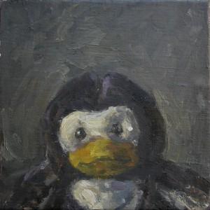 Pinguin, 2010 Öl auf Leinwand, 20x20cm