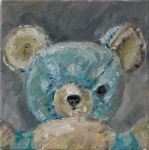 Bär, 2009 Öl auf Leinwand, 20x20cm