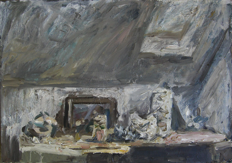 Dachzimmer Malerei